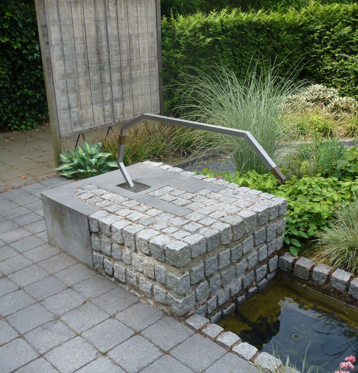 Waterornament en brug - overzicht waterornament
