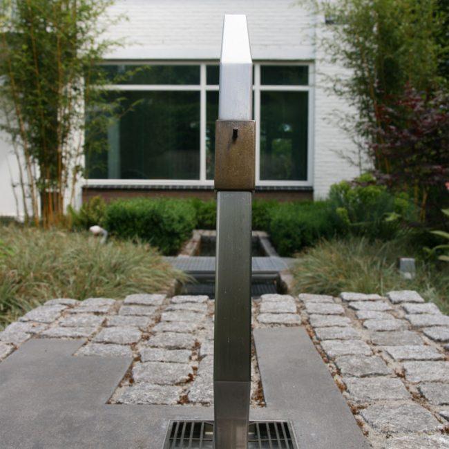 Waterornament en brug - achterzijde waterornament