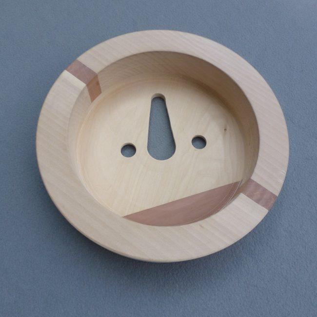 Plafonnière - hout met sparingen