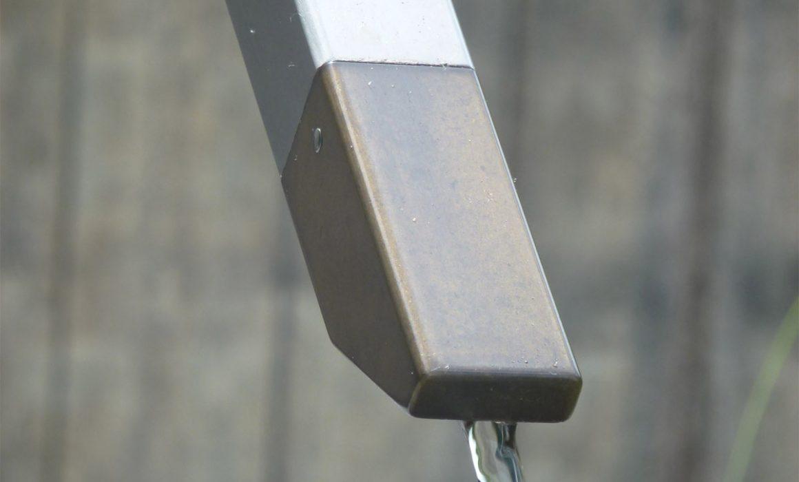 Waterornament en brug - mondstuk