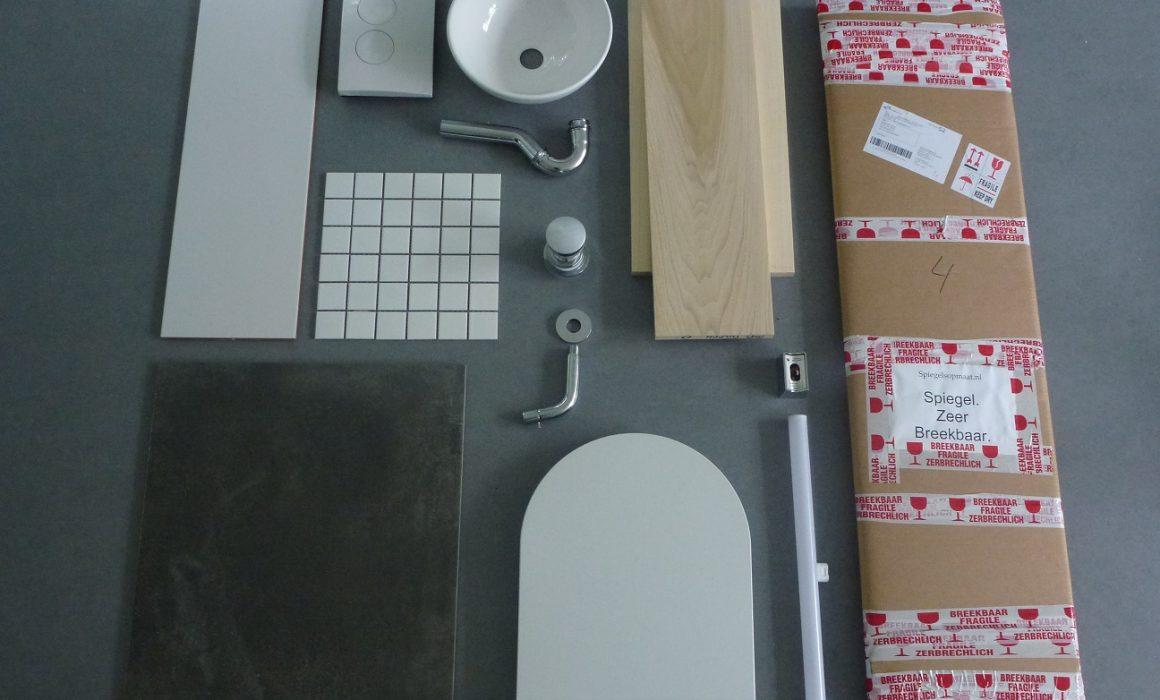Toiletrenovatie - materiaalcombinatie