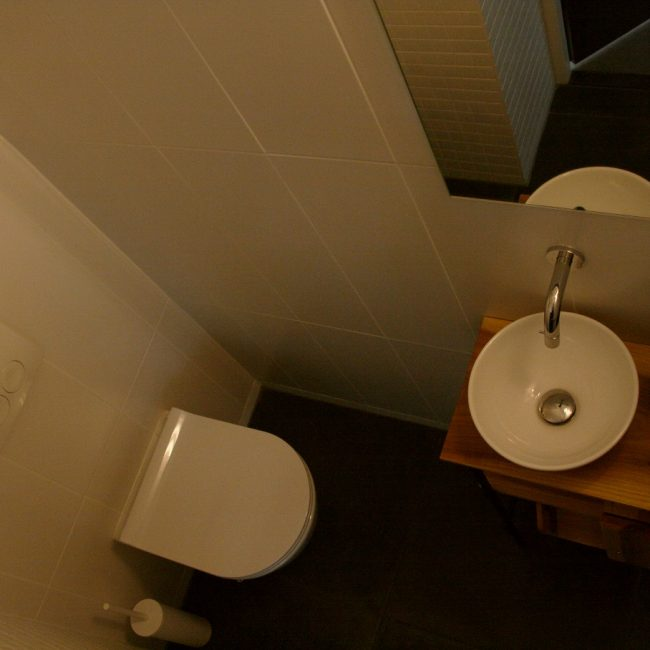 Toiletrenovatie - overzicht van boven