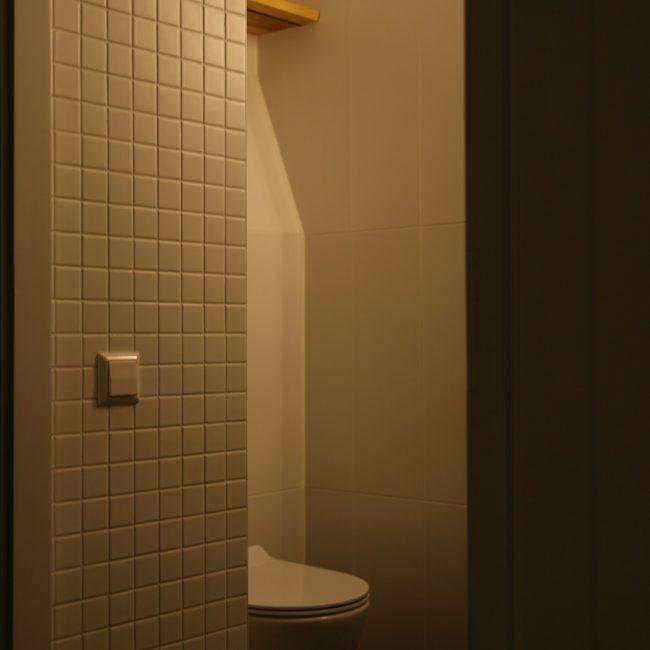 Toiletrenovatie - texturen en vlakverdeling