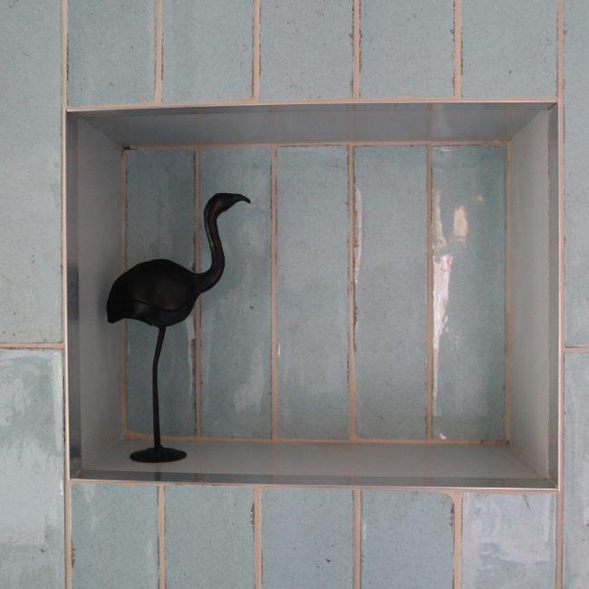Wandkast met tegels - betegeld nisje