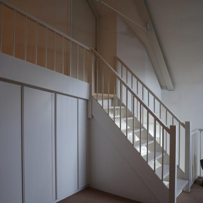 Inloopkast - verlengen bestaande trap en trapboom